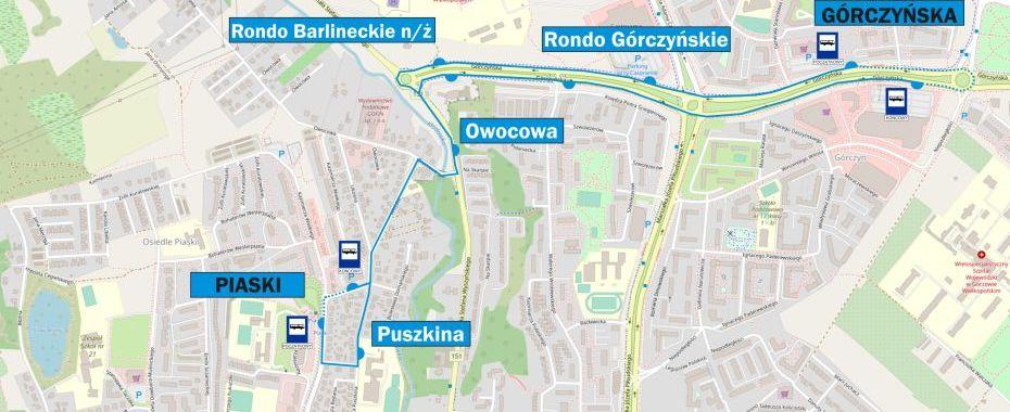 Autobusem z os. Piaski na Górczyńską!